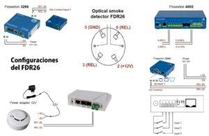 Conexión del detector de humo fdr26