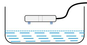 ejemplo del detector de inundación 1w-uni