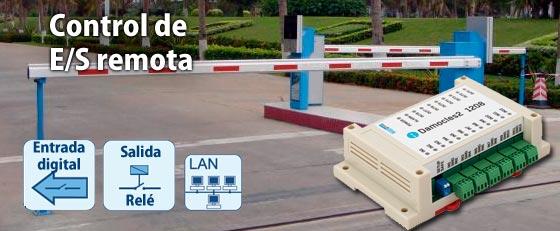 control de entradas y salidas digitales remotas